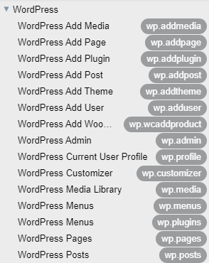 Screenshot showing ASIThemes' WordPress snippets naming convention